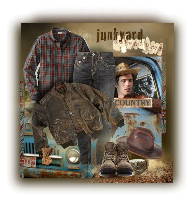 """""""Junkyard Adventurer"""" by halebugg ❤ liked on Polyvore featuring Mara Hoffman, True Religion, Free People, Fiorentini + Baker, vintage and country"""