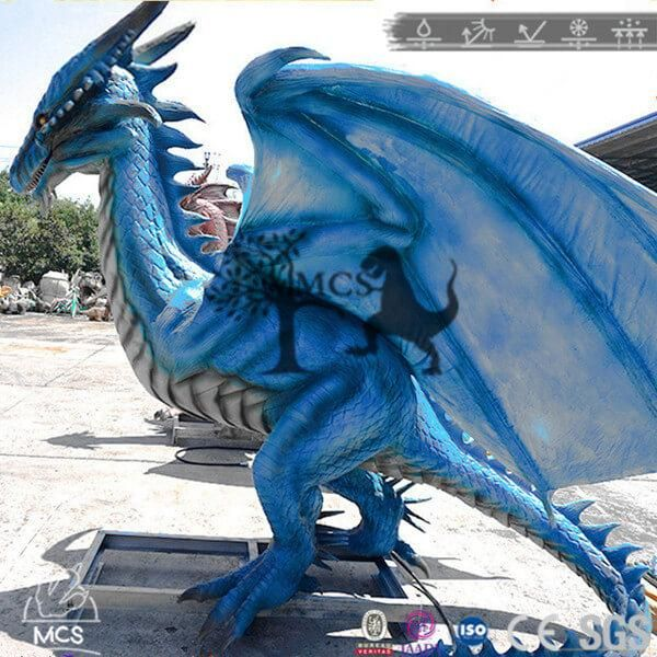 Robot Dragon Animatronic Wyvern At County Fair Dra008 Robot Dragon Wyvern Modern Fantasy