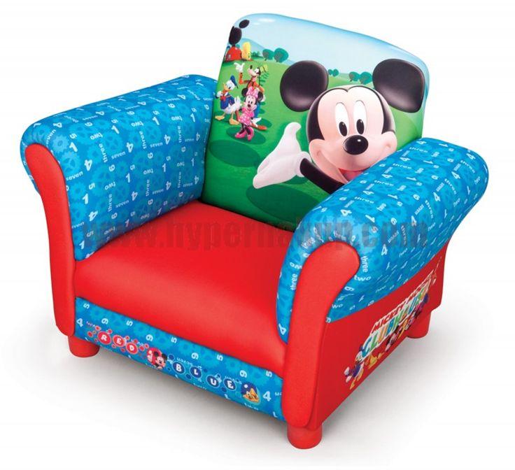Disney detské čalúnené kresielko s Mickey Mouse urobí radosť všetkým deťom! Príjemný materiál a dizajn vytvára ideálne miesto pre…