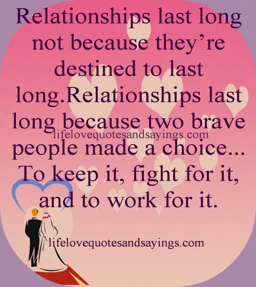 I will stand and fight for my relationship and won't let it end unless god gives me a reason but there will never be a good enough reason