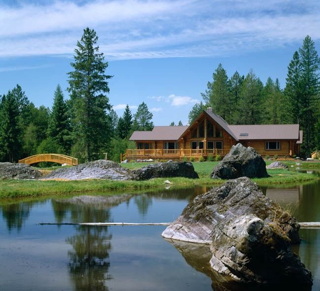 16 best images about mountain lake cabins on pinterest for Lake house builders