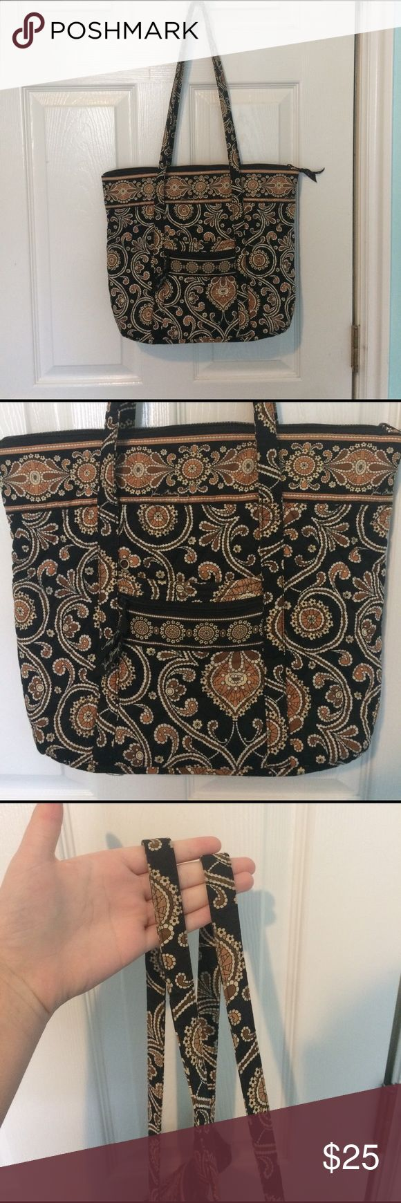 Beautiful Vera Bradley Handbag/Tote In incredible condition. Used maybe once. Colors are black & taupe/brown. Gorgeous neutral purse. Tags: coach, Louis Vuitton, Tommy Hilfiger, Ralph Lauren, vineyard vines, lilly pulitzer. GUC EUC BUC Vera Bradley Bags Shoulder Bags