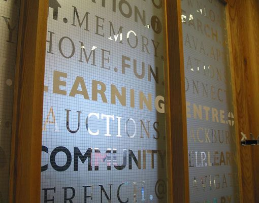 Window graphics are a fun update for an office