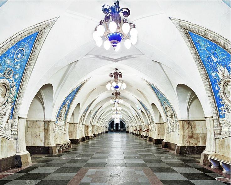 Moscow Underground, Taganskaya station by David Burdeny
