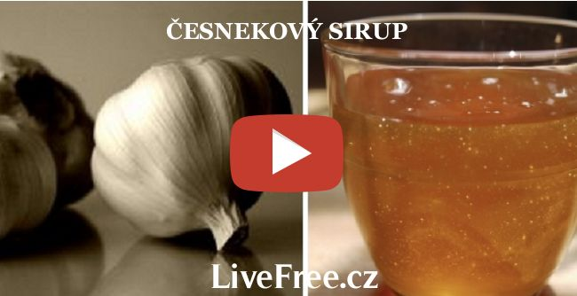 Recept na domácí česnekový sirup