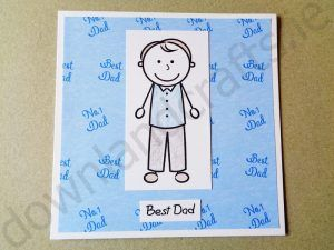 Cardmaking tutorial for using our 'From Your Son' stamps and 'Dad Friday Freebie' printable backing paper download