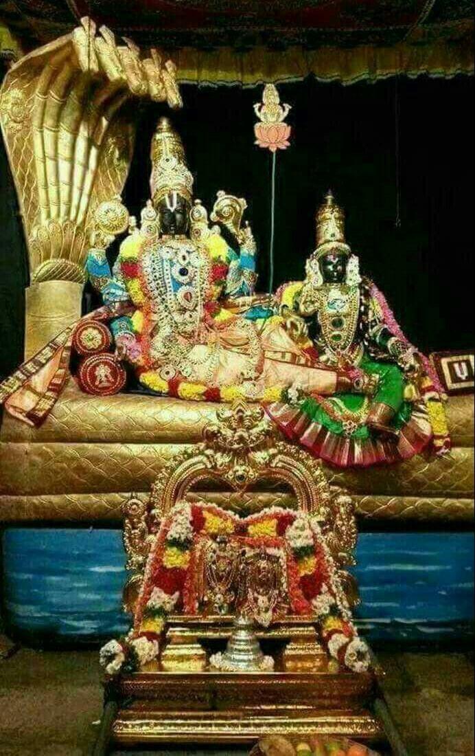 Vishnu with lakshmi..