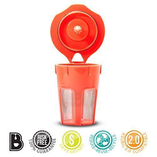 Brewooze� Keurig Carafe Kcup - Reusable, Refillable K Cup - Carafe Keurig Coffee Filter Crafted for K500, K400, K300 and K200 Models