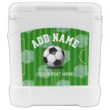 Soccer/Football themed Personalised Igloo Rolling Cooler