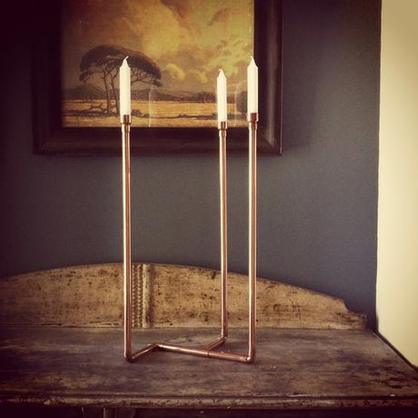 my dad's copper candlesticks