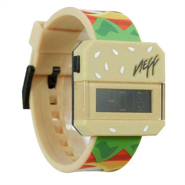 NEFF BURGER DIGITAL WATCH    £39.95     Buy Here: http://www.blacksheepstore.co.uk/neff-burger-digital-watch.html
