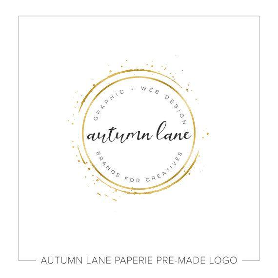 Vorgefertigte Firmenlogos Aquarell-Logo von AutumnLanePaperie