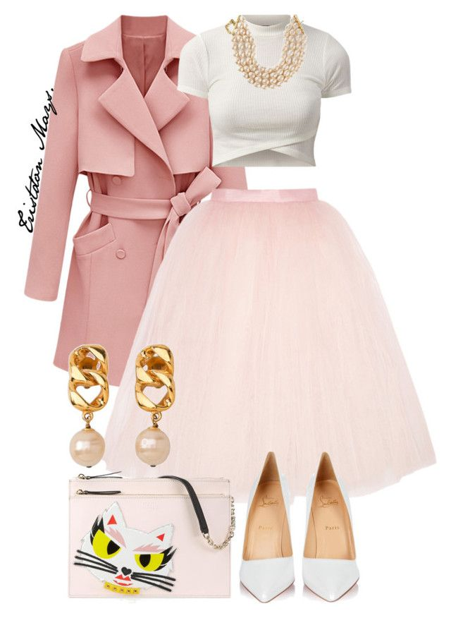 """Scream Queens Look #5."" by monroestyles ❤ liked on Polyvore featuring Ballet Beautiful, Christian Louboutin, Karl Lagerfeld, Chanel and ScreamQueens"