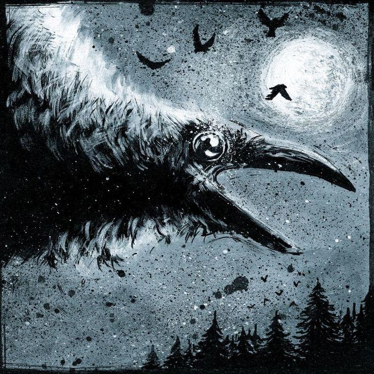 Raven Ink on paper