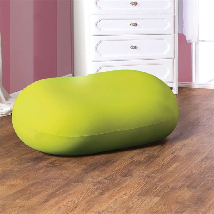 Marlet Contemporary Bean Bag Chair in Green