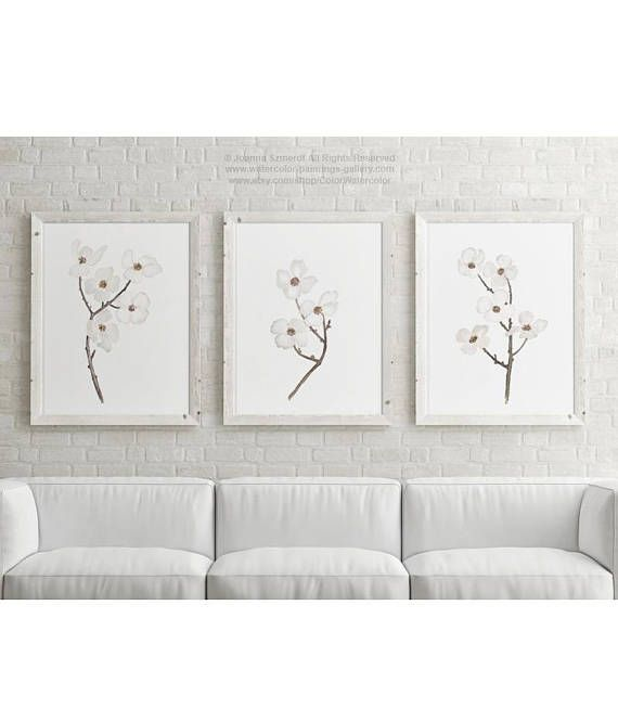 Dogwood Nursery Room Canvas Wall Decor Baby Girl Boy White Etsy In 2021 Canvas Wall Decor Kids Room Wall Decor Baby Girl Nursery Art