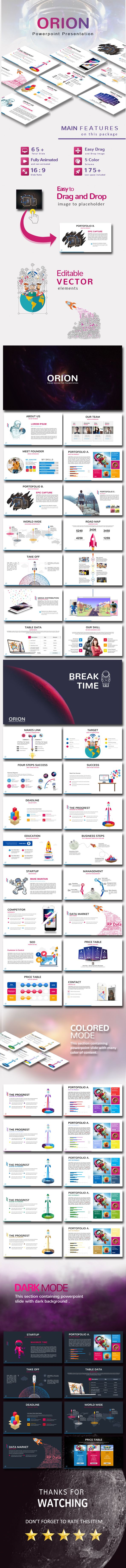 Orion PowerPoint Template - Business #PowerPoint #Templates Download here: https://graphicriver.net/item/orion-powerpoint-template/17106577?ref=alena994