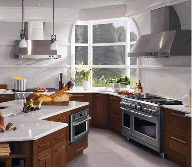 GE Monogram Pro Range and GE Monogram Advantium Oven for the perfect kitchen