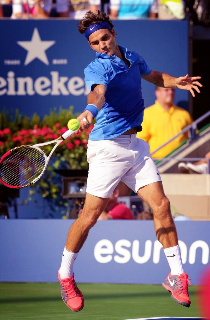 Roger Federer at the US Open 2013
