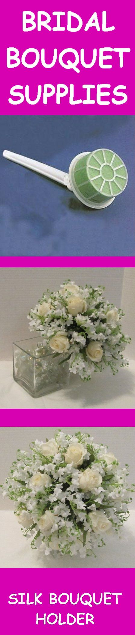Bridal Bouquet Holders - Step by Step Free and Easy Wedding Flower Designing  Learn how to make bridal bouquets, wedding corsages, groom boutonnieres, church decorations and reception centerpieces!  Buy wholesale flowers and discount florist supplies.