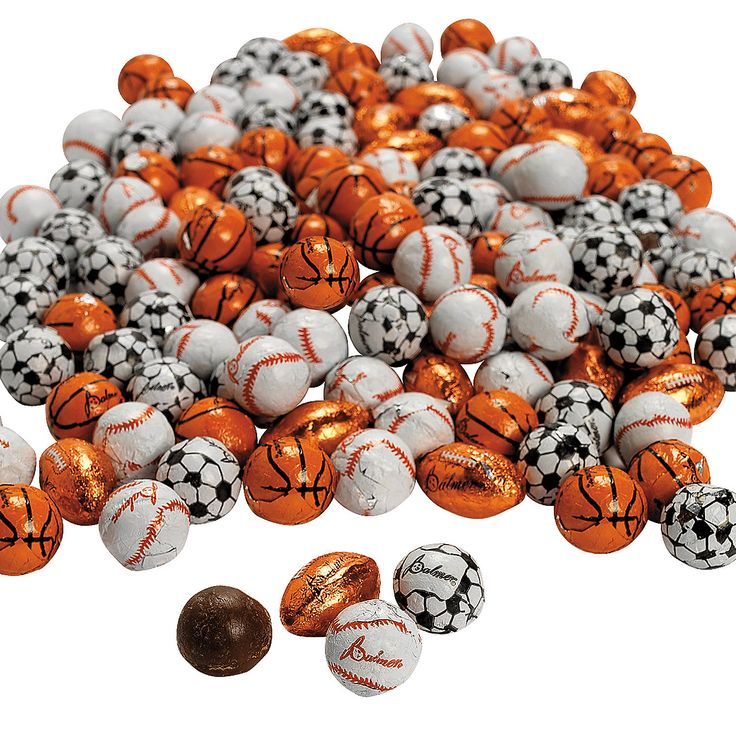 Palmer® Super Sports Chocolate Balls - OrientalTrading.com   Ordered for Kale's BD paryt!!!