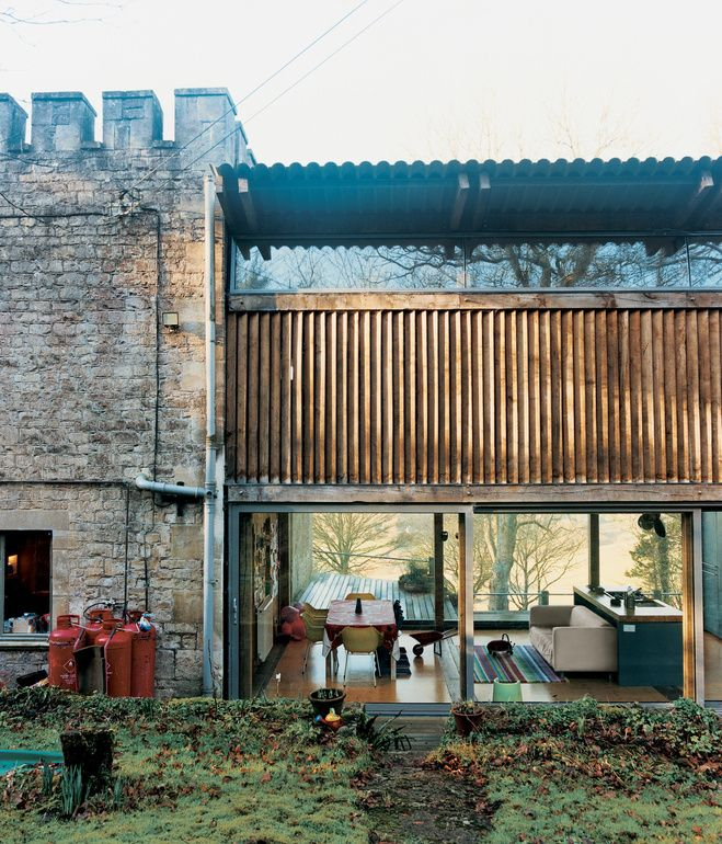 Piers Taylor renovation of a gameskeeper's cottage with modern addition