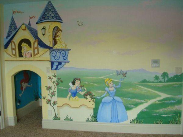 17 best ideas about castle mural on pinterest princess for Disney castle mural