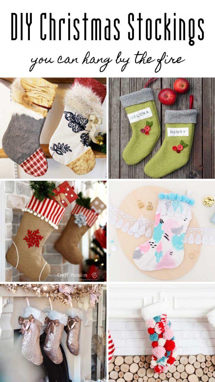 20 Diy Christmas Stockings You Can Hang By The Fire Christmas Stockings Diy Christmas Stockings Christmas Diy