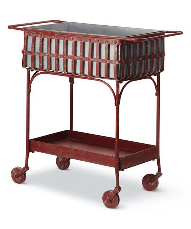 Look at this Red Lattice Bar Cart on #zulily today!