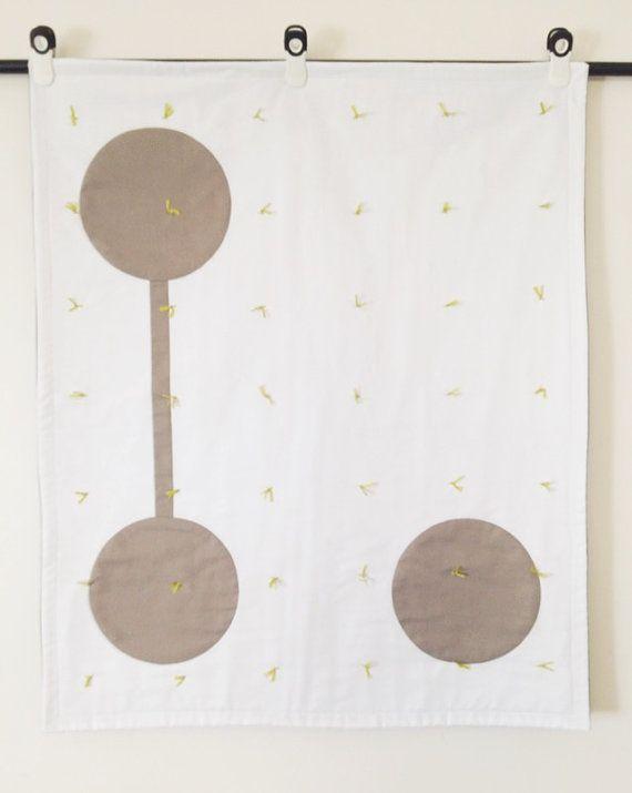 New Modern Contemporary Baby Quilts Zen Geometric  Boys Yoga Earth  Sun  Moon  Bedding Wall Art  Zen Quilt ?? Circle Blanket  Art Japanese