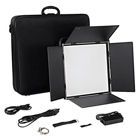 Fotodiox Pro FlapJack Studio 1.5x1.5 (C-818ASV) Bicolor LED Edge Light - 18x18-Inch Ultra-thin Light, Professional Dual Color LED, Dimmable Photo/Video Light Kit with Case