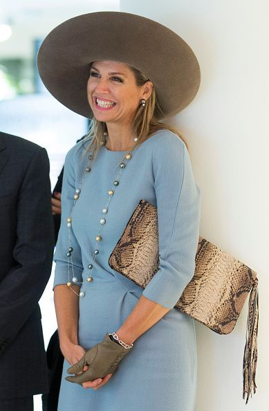 Royal Family Around the World: Queen Maxima Of The Netherlands Opens Visitor Center Netherlands Bank In Amsterdam on September 22, 2015 in Amsterdam, Netherlands