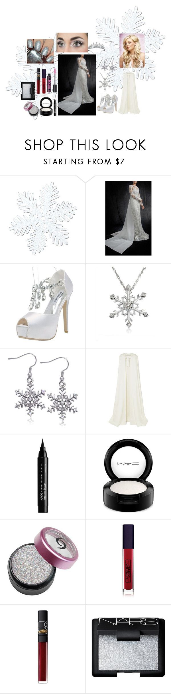 """Snow queen ❄👑"" by kellykalymnoskd on Polyvore featuring Amanda Rose Collection, Van Cleef & Arpels, Roland Mouret, NYX, MAC Cosmetics, Lipstick Queen, NARS Cosmetics and Dimepiece"