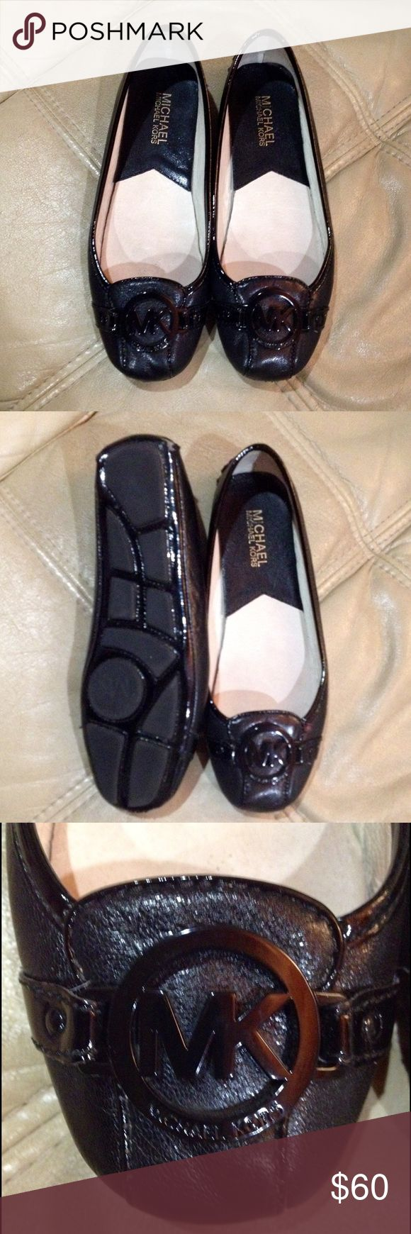 Michael Michael Kors Black Leather Flats Shoes Very good condition. Minimal signs of wear. Leather upper. MICHAEL Michael Kors Shoes Flats & Loafers