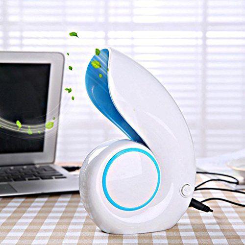 Leegor Cute Snails Portable USB Mini Fan Low Noise Laptop Cooler Air Conditioner (Blue)
