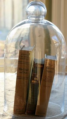 Using Glass Cloches to display special books