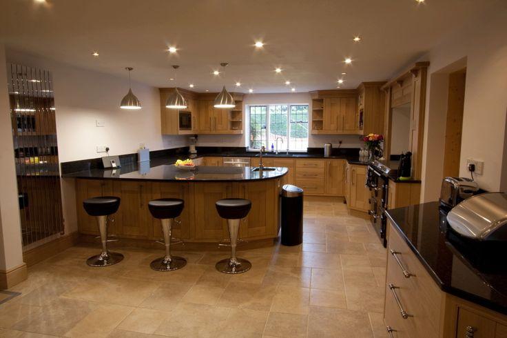 Black Granite with Oak Kitchen #LGLimitlessDesign & #Contest