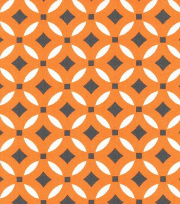 Keepsake Calico™ Cotton Fabric-Paisley Orange Geo