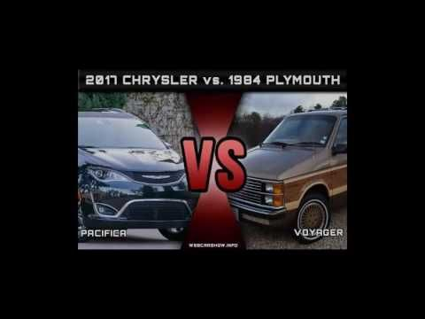 Voyager to the Pacifica 2017 Chrysler Pacifica vs  1984 Plymouth Voyager