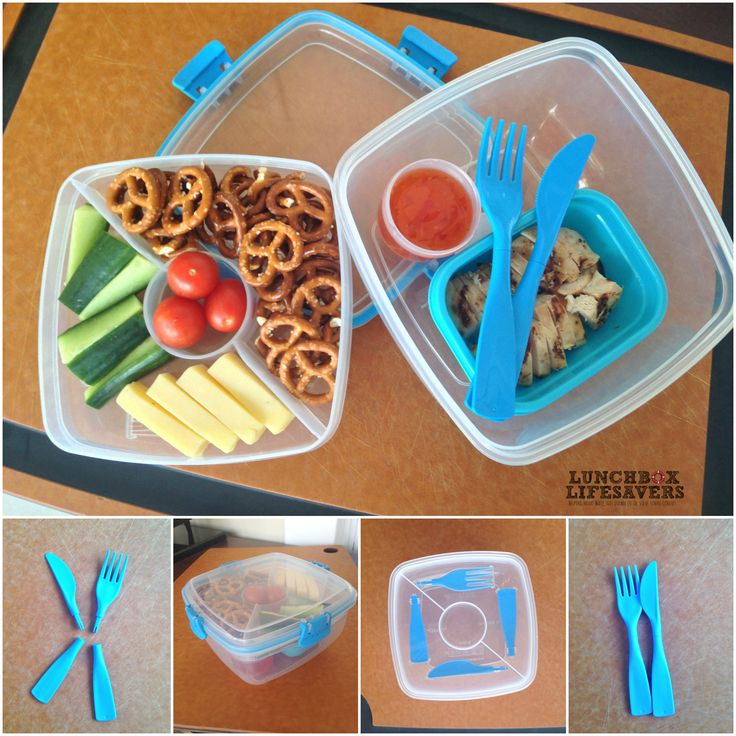 """The Do-It-Yourself knife & fork in this Sistema 'Salad To Go' lunchbox adds a bit of #FunInLunch for the older kids. My boy is sooo not a fan of lettuce though - says he won't eat """"rabbit food"""" (but cucumber is not considered """"rabbit food"""", apparently). Who knows a tween's logic?"""
