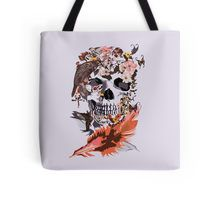 Birds, butterfly and Sugar Skull Tote Bags #ToteBags #bags #fashion #Birds #butterfly #Sugar #skull #skeleton #dayofthedead #diasdemuertos #jackskellingtons #halloween #scary #thenightbeforechristmas #animal #bone #tattoo #hippie #hipster #aztec #maya #indian #feather #bird #mexico #mexican #hauntedmansion #ghost #monster