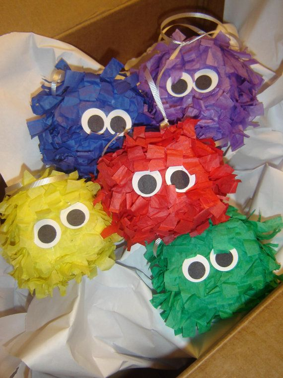 Mini Pinata Monsters Perfect for Party Favors by NatureCurios, $25.00
