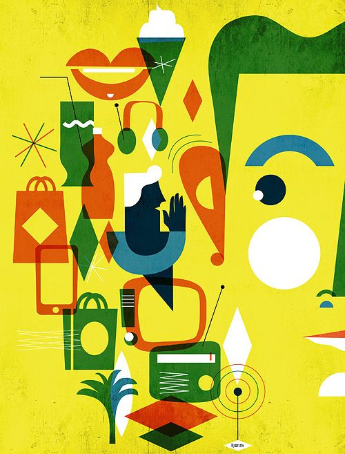 illustration / january-june 13 by iv orlov, via Behance