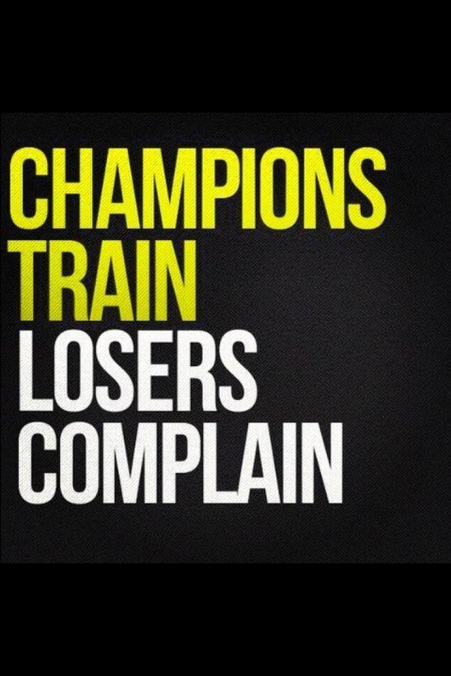 Champions train!
