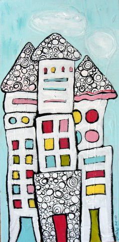 fun idea for houses - so happy By Tracy Yarbrough