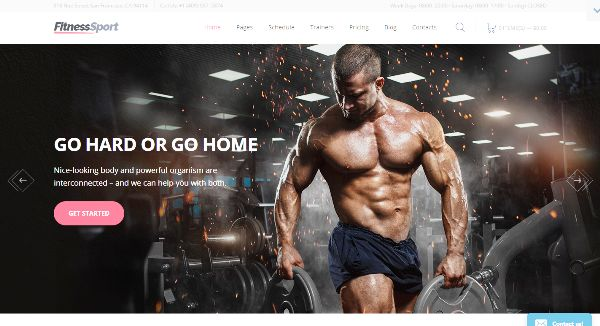 50+ Best Fitness Gym Website Templates