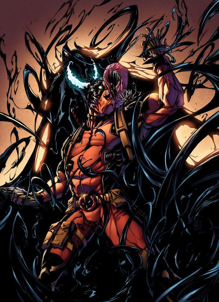 #Deadpool #Fan #Art. (Venom Vs Deadpool Color) By: VinceColors. ÅWESOMENESS!!!™ ÅÅÅ+