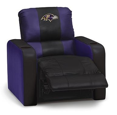 Baltimore Ravens leather chair