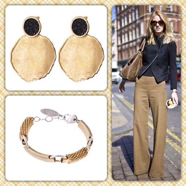 Oxette Style..! Black & nude-perfect together. #oxette #earrings #bracelet