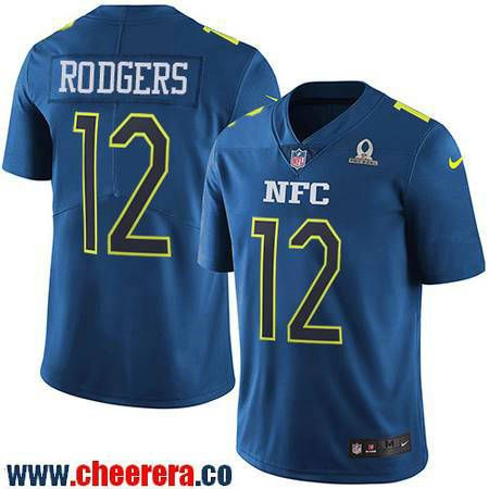 ... Game White Pro Line Fashion Jersey Mens Green Bay Packers 12 Aaron  Rodgers Navy Blue NFC 2017 Pro Bowl Stitched NFL ... 87592a5d0